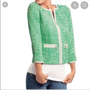CAbi• 726 Green Tweed Jacket